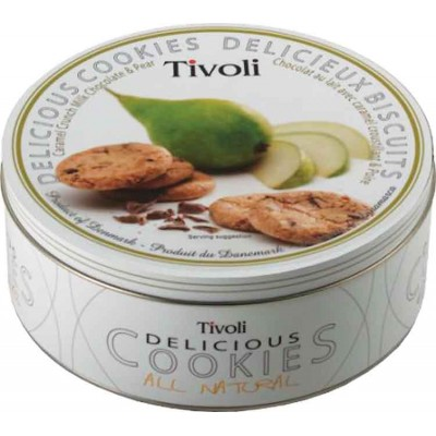 Tivoli Caramel Crunch Pear Cookie Tin
