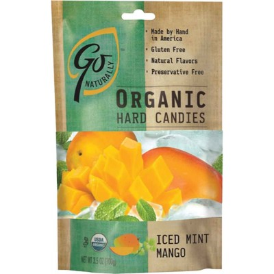 Go Organic Iced Mint Mango Natural Candy Bag