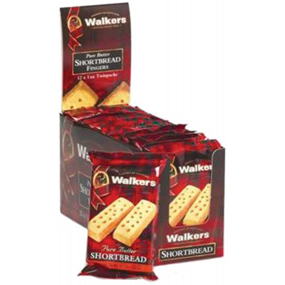 Walkers Shortbread Cookie Fingers 2 Pack Vertical Counter Display
