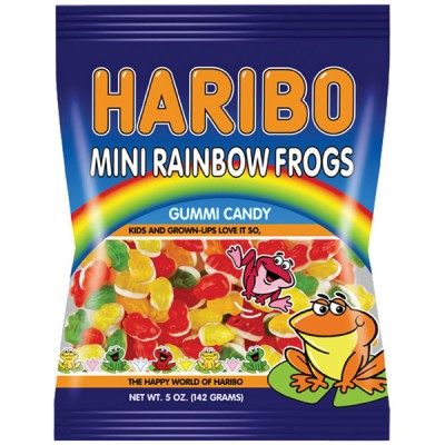 Haribo Mini Rainbow Frogs Bag