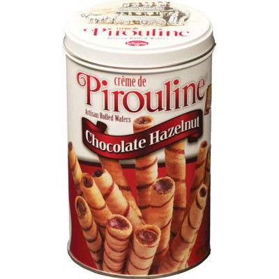 De Beukelaer Milk Chocolate Hazelnut Pirouline Tin