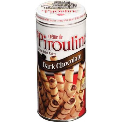 De Beukelaer Dark Chocolate Pirouline Tin