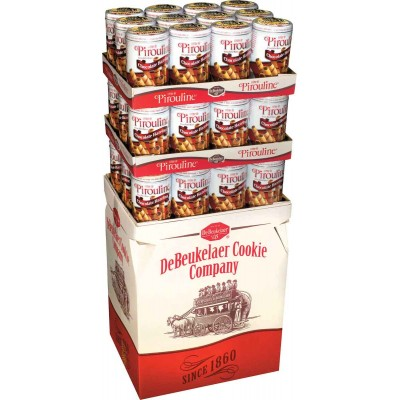 De Beukelaer Milk Chocolate Hazelnut Pirouline Tin Display