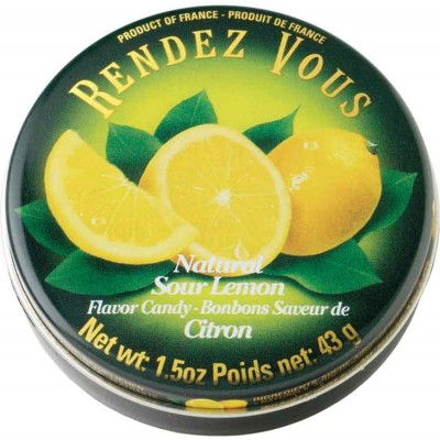 Rendez Vous Sour Lemon Candy Tin