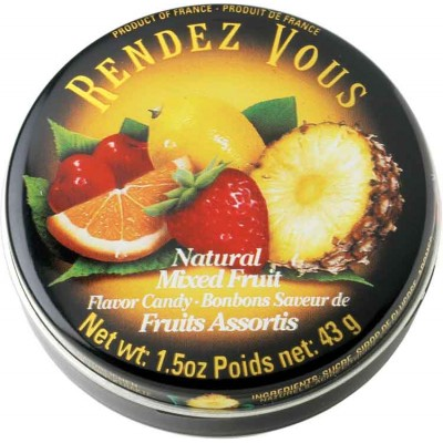 Rendez Vous Mixed Fruit Candy Tin