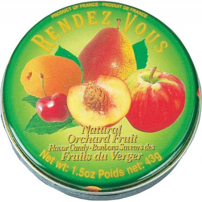 Rendez Vous Orchard Fruit Candy Tin