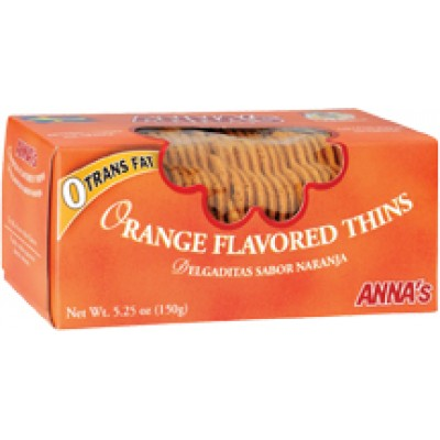 Annas Cookie Thin Orange Box