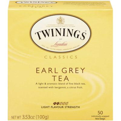 Twinings of London Earl Grey Classic Tea 50 CT Box