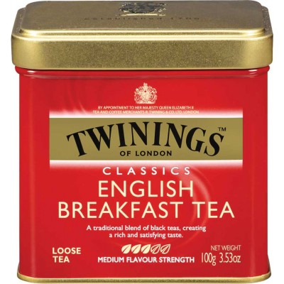 Twinings of London Loose English Breakfast Tea Tin