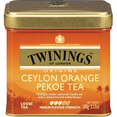 Twinings of London Loose Ceylon Orange Pekoe Tea Tin