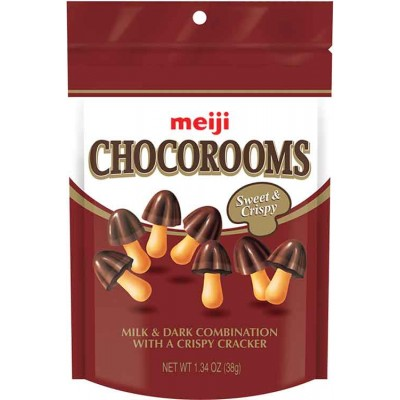 Meiji ChocoRooms Chocolate Dipped Cookie Pouch
