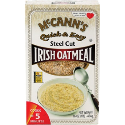McCanns Quick & Easy Steel Cut Oatmeal Box