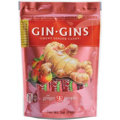 Ginger People Spicy Apple Ginger Chews Bag