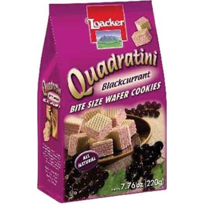 Loacker Black Currant Wafer Cube Bag