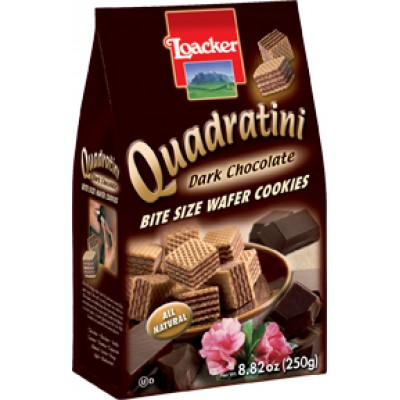 Loacker Dark Chocolate Wafer Cube Bag
