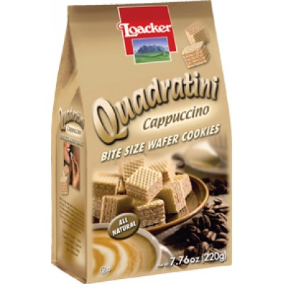 Loacker Cappuccino Wafer Cube Bag