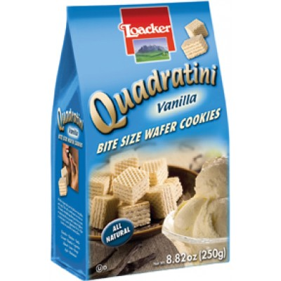 Loacker Vanilla Wafer Cube Bag