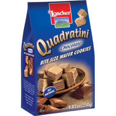 Loacker Chocolate Wafer Cube Bag