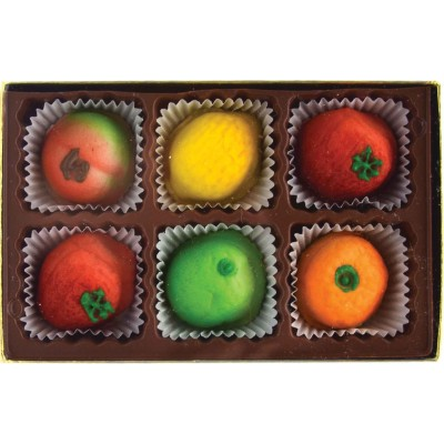 Bergen Marzipan Fruit Assortment 6 Piece