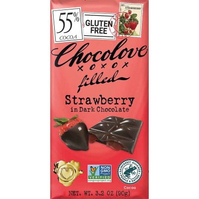 Chocolove Strawberry Cream Dark Chocolate Bar