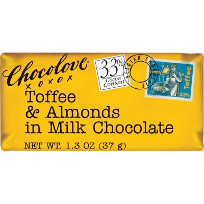 Chocolove Toffee & Almonds in Milk Chocolate Mini Bar