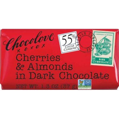 Chocolove Cherries & Almonds in Dark Chocolate Mini Bar