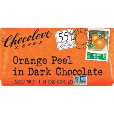 Chocolove Orange Peel in Dark Chocolate Mini Bar