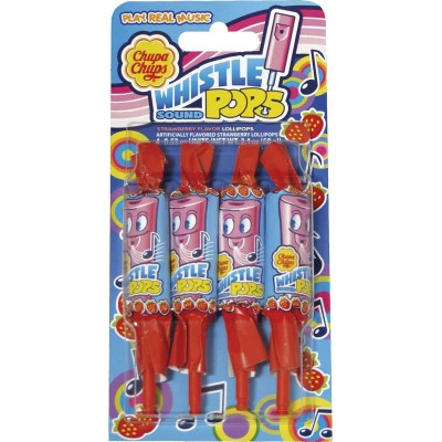 Chupa Chups Strawberry Whistle Pop 4 Pack