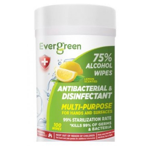 Evergreen 75% Alcohol Sanitizer Wipes