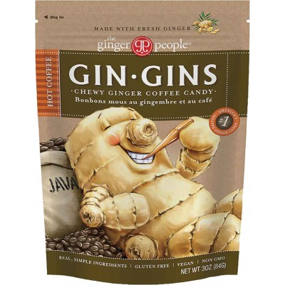 Ginger People Coffee Ginger Chews Bag