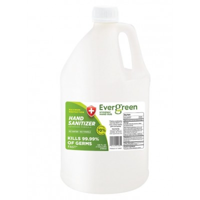 Evergreen Hand Sanitizer Liquid Gallon
