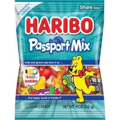 Haribo Passport Mix Gummy Peg Bag