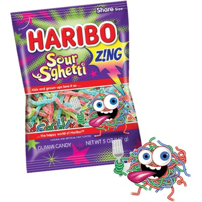 Haribo Zing Sour S'Ghetti Bag