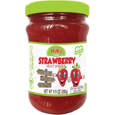Hiko Strawberry Jam Jar Non GMO