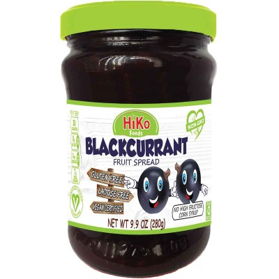 Hiko Black Currant Jam Jar Non Gmo