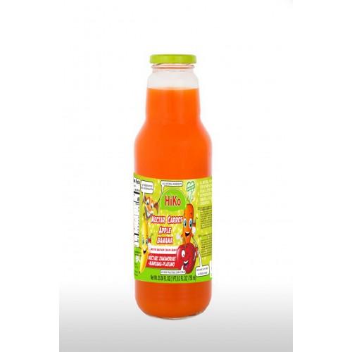 Hiko Non-Gmo Carrot Apple Banana Nectar