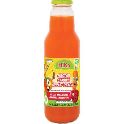 Hiko Non-Gmo Carrot Apple Peach Nectar