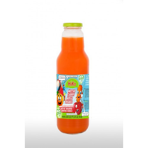 Hiko Non-Gmo Carrot Apple Orange Nectar