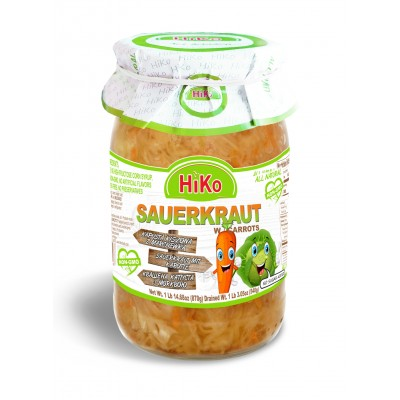 Hiko Non-Gmo Sauerkraut with Carrots
