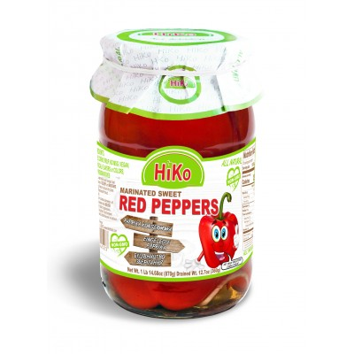 Hiko Non-Gmo Marinated Sweet Red Peppers