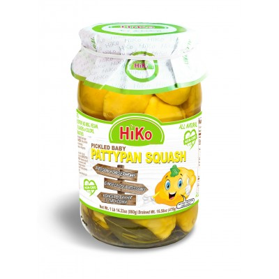 Hiko Non-Gmo Pickled Baby Pattypan Squash