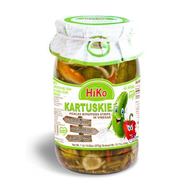 Hiko Non-Gmo Kartuskie Pickles with Pepper Strips
