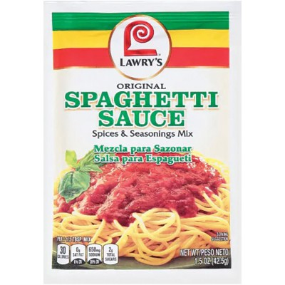 Lawrys Spaghetti Sauce Spice and Seasoning