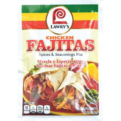 Lawyrs Chicken Fajitas Spice and Seasoning