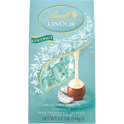 Lindt Milk Chocolate Coconut Lindor Truffles Bag
