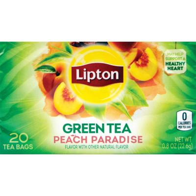 Lipton Mangosteen and Peach Green Superfruit Tea