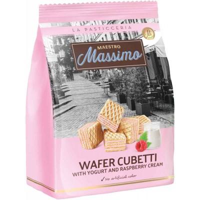 Maestro Massimo Cubetti Raspberry Yogurt Wafer Bag