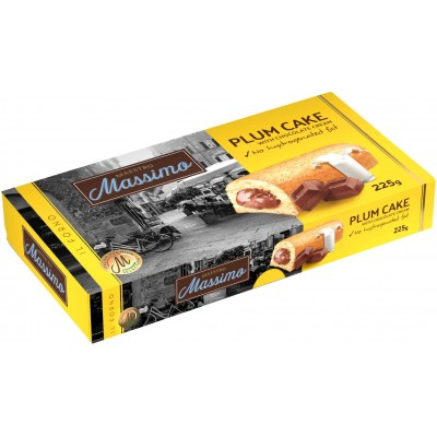 Maestro Massimo Plum Cake with Chocolate Filling 5 Piece