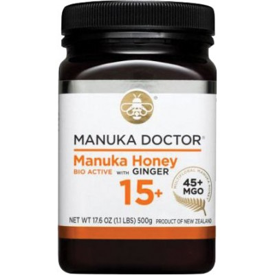 Manuka Doctor Bioactive 15+ with Ginger Manuka Honey
