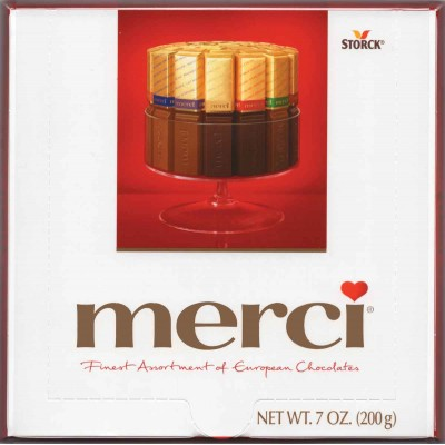 Merci European Dark Chocolate Assortment Gift Box